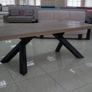 moderne genvundet træ spisebord