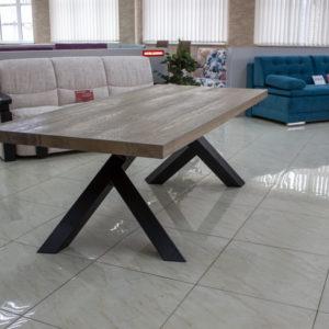 rektangulært kvadratisk reclaimed træ spisebord