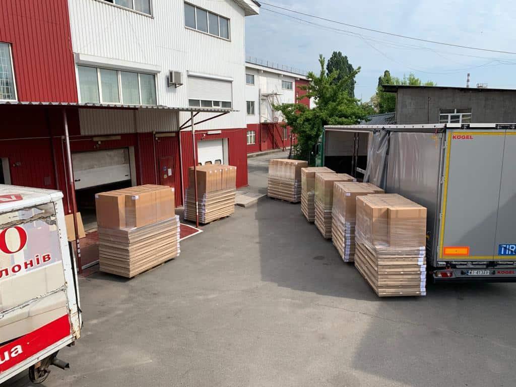 transport af færdige produkter til Europa
