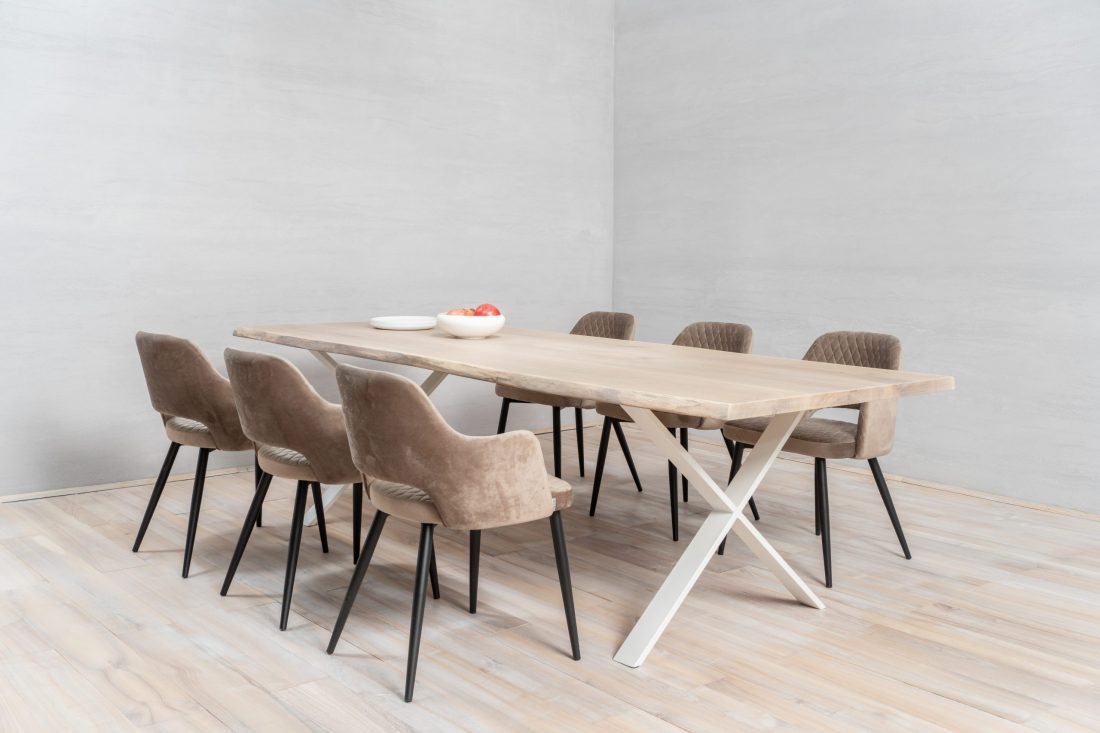 Beautiful dining table made of wood