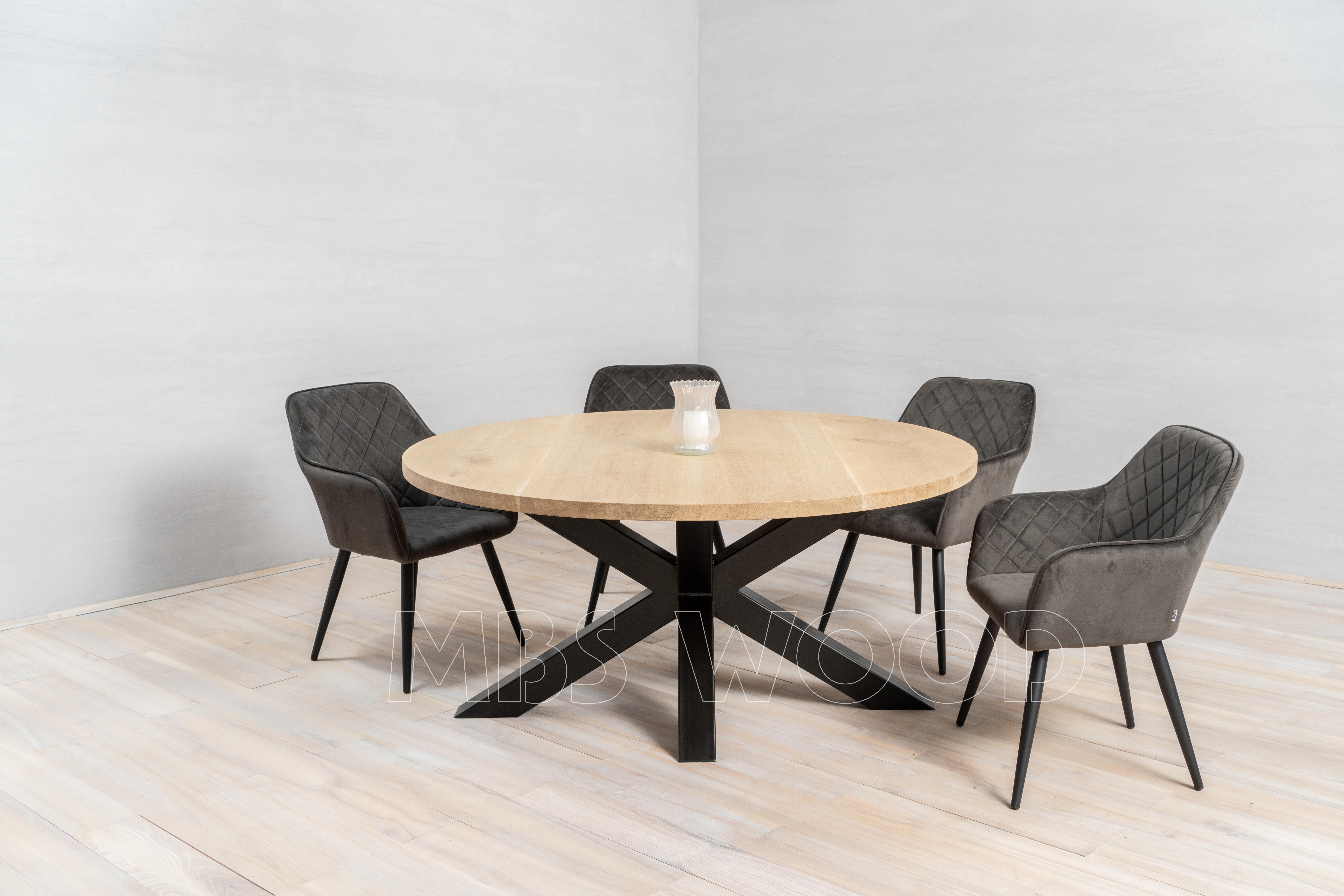 round oak tabletops