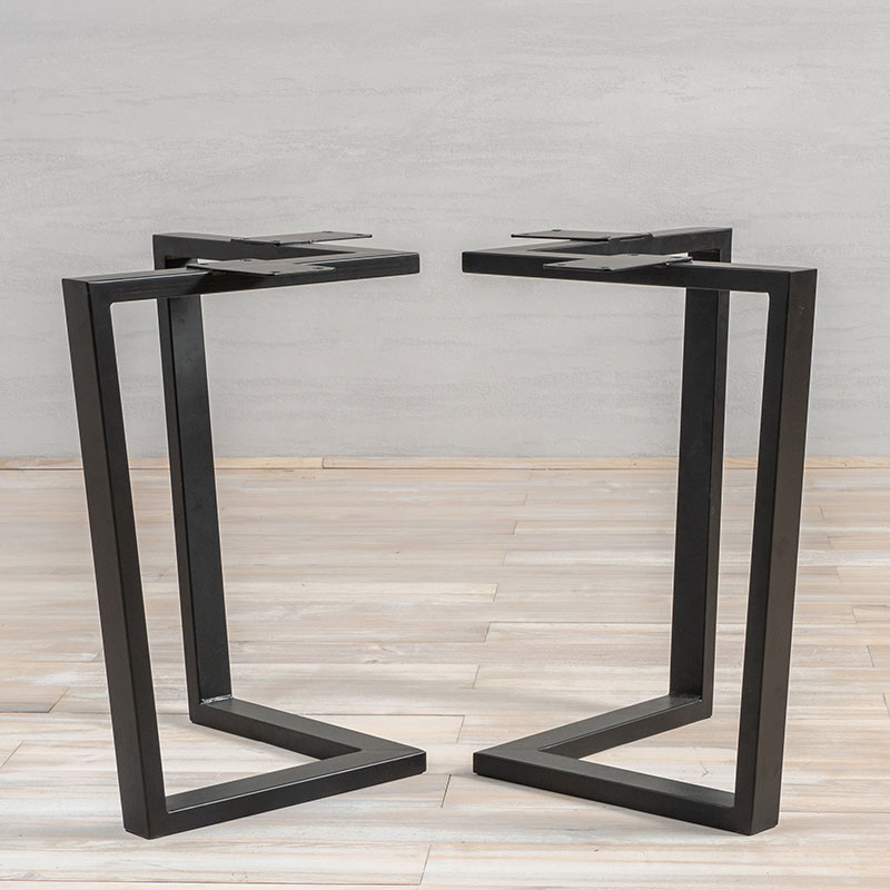 Metal Table Legs Book Shape
