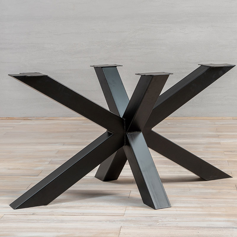 Black Table Legs S-Shape